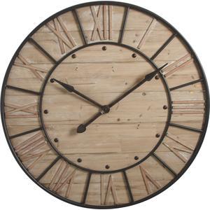 Photo DHL1230 : Horloge en bois et métal