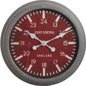 Photo DHL1300V : Horloge en métal et verre