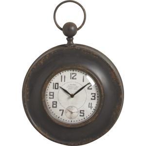Photo DHL1330V : Horloge en métal et verre