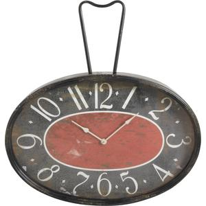 Photo DHL1380V : Horloge en métal et verre