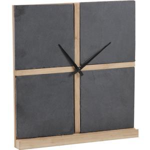 Photo DHL1420 : Horloge en ardoise et bambou