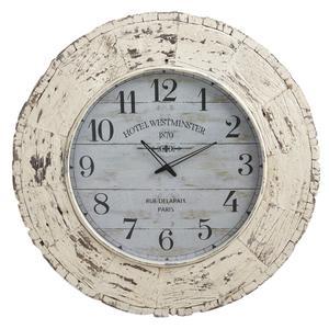 Photo DHL1440V : Horloge en bois vieilli
