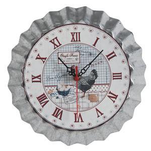 Photo DHL1450 : Horloge en métal Oeufs Frais