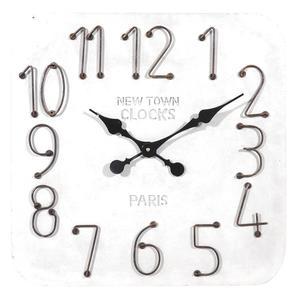Photo DHL1530 : Horloge carrée en résine