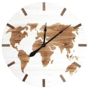 Photo DHL1570 : Horloge mappemonde en bois