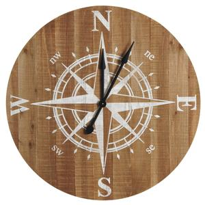 Photo DHL1580 : Horloge boussole en bois
