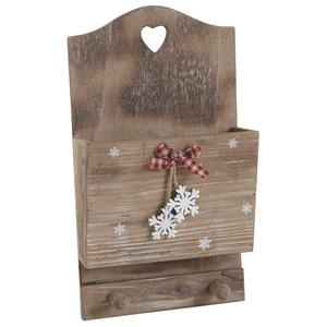 porte lettres mural en bois hiver dma1260 aubry gaspard. Black Bedroom Furniture Sets. Home Design Ideas