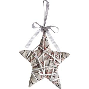 Photo DMO1280 : Wood and willow hanging star