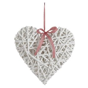 Photo DMO1332 : Lacquered willow hanging heart
