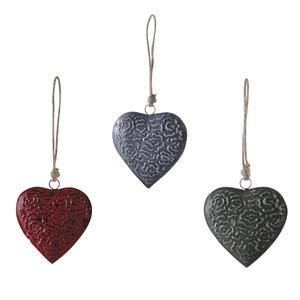 Photo DMO1461 : Coeur à suspendre en métal