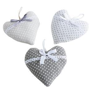 Photo DMO1530 : Coeur à suspendre en coton et lin