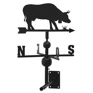 Photo DMU1550 : Girouette vache en fer forgé