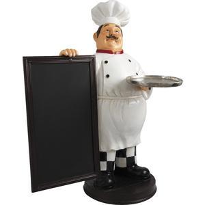 Photo DST1200 : Chef en résine + tableau noir