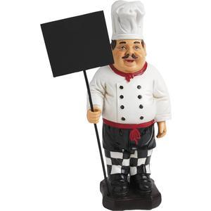 Photo DST1230 : Chef en résine + tableau noir