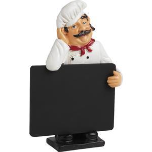 Photo DST1240 : Chef en résine + tableau noir