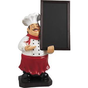 Photo DST1260 : Chef en résine + tableau noir