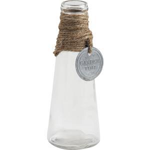 Photo DVA1440V : Vase en verre et déco métal