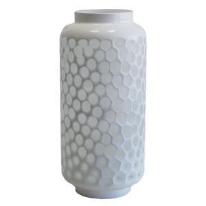 Photo DVA1460V : Vase en verre teinté blanc