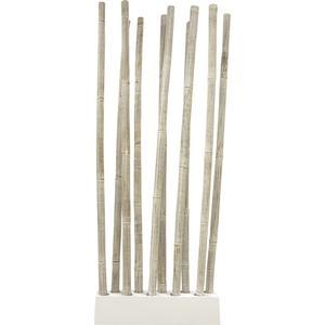 Photo DVI1400 : Socle + 10 tiges de bambou patiné blanc