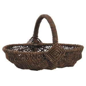 Photo FCO5320 : Unpeeled willow basket with handle