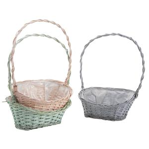 Photo FCO5370P : Stained willow and wood basket