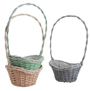 Photo FCO5380P : Stained willow and wood basket