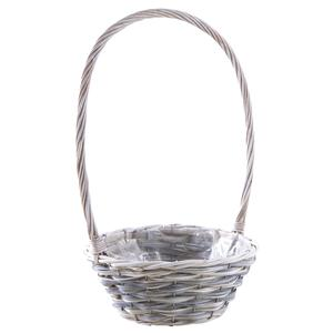 Photo FCO5490P : Whitewashed half willow and wooden basket