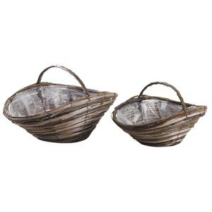 Photo FCO550SP : Unpeeled willow and wooden baskets