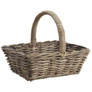 Photo FPA1590 : Grey pulut rattan basket with handle