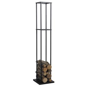 Photo GCH2150 : Black metal log holder