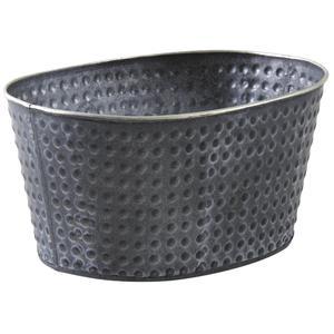 Photo GCO3580 : Corbeille ovale en métal laqué mat