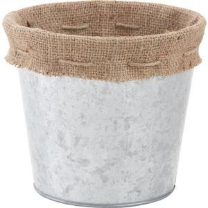 cache pot en zinc et jute gcp1860 aubry gaspard. Black Bedroom Furniture Sets. Home Design Ideas