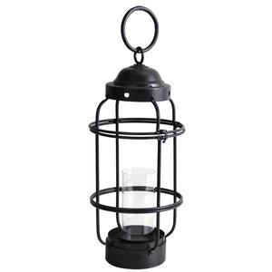 Photo GLA1200V : Black metal and glass lantern