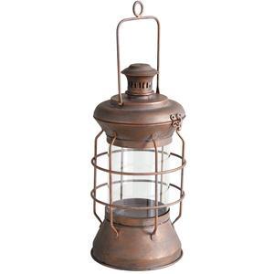 Photo GLA1210V : Lanterne ronde en métal cuivré et verre