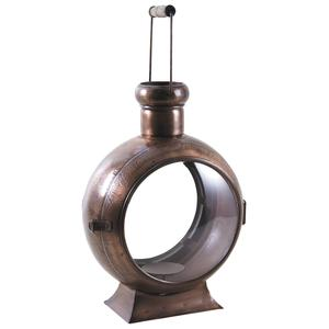 Photo GLA1220V : Lanterne en métal cuivré et verre