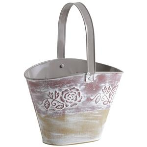 Photo GPA1310 : Lacquered zinc basket with movable handle