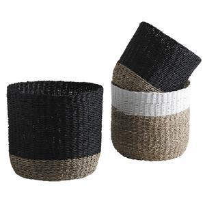 Photo JCP368S : Cache-pot en jonc et corde teintés