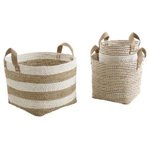 Photo JCP371S : Cache-pot ronds en corde et nylon