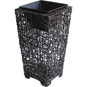 Photo JVA130S : Vases en rotin et métal