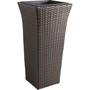 Photo JVA1332 : Vase en rotin synthétique marron