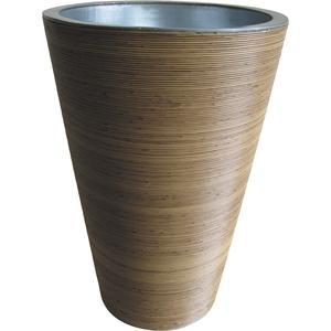 Photo JVA1340 : Vase en rotin synthétique et zinc