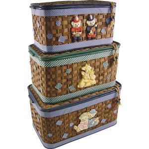 Photo KJO105SC : Coffres à jouets en bambou