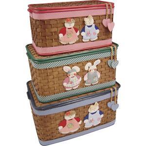 Photo KJO106SC : Coffres à jouets en bambou