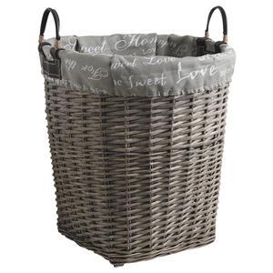 Photo KLI3260C : Grey willow laundry basket