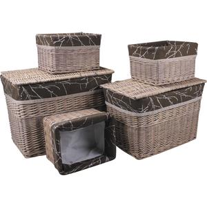 Photo KMA189SC : 2 chests with 3 willow storage baskets