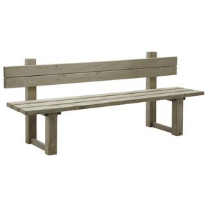 Photo MBC1180 : Spruce wood bench with back