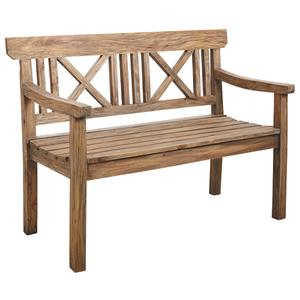 Photo MBC1310 : Banc de jardin en bois naturel antique