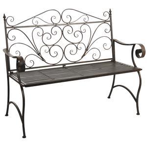 Photo MBC1320 : Vintage metal folding garden bench