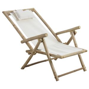Photo MCL1100 : Chaise relax pliante en bambou