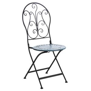 Photo MCT1211 : Blue metal folding terrace chair